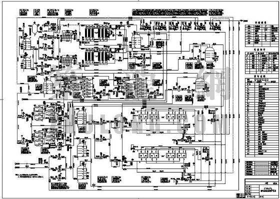 广东某电厂锅炉补给水处理装置图