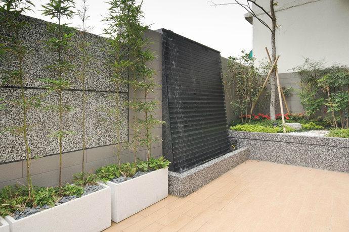 330平简约日式别墅客厅背景墙装修效果图