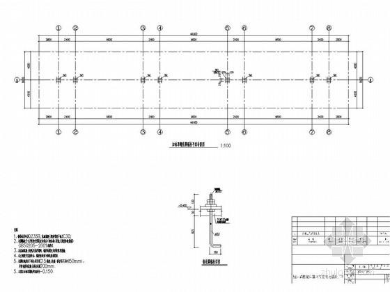 [湖南]双层中空PC阳光板钢框架结构加油站罩棚结构施工图