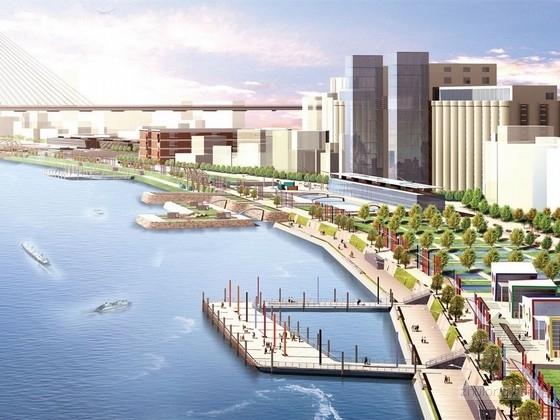 [上海]都市风情香格里拉式绿色滨江公园景观规划设计方案
