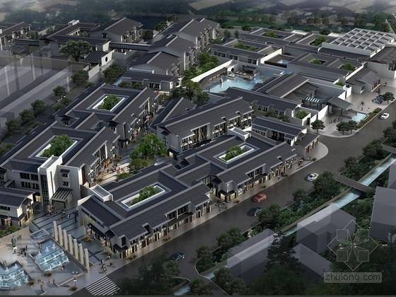 [浙江]新中式风格商业街规划设计方案文本(含CAD 传统以现代结合良好)