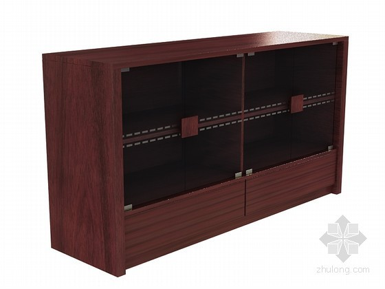 现代中式橱柜3D模型下载