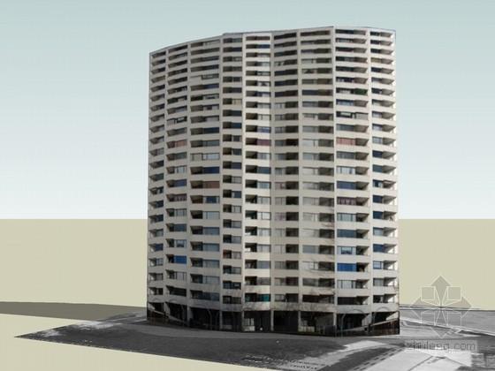 高层公寓楼SketchUp模型下载