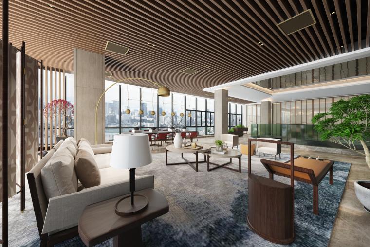 新中式售楼空间设计3D模型(附效果图)