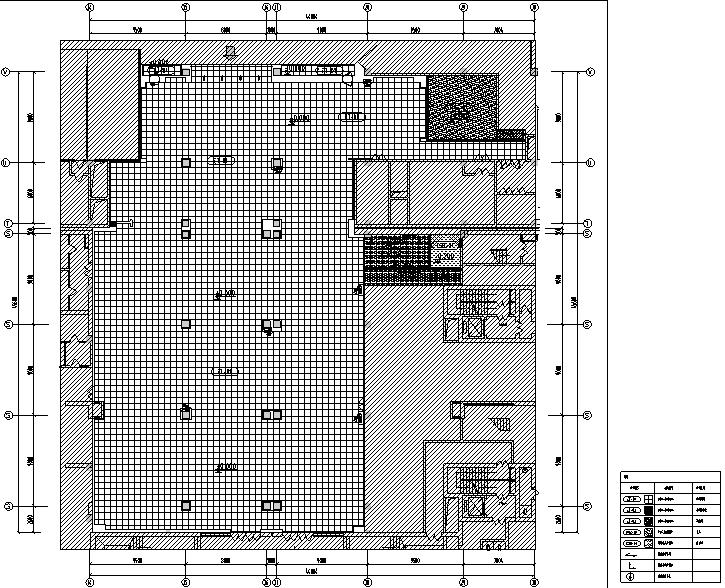 4套迪卡侬设计施工图(附效果图+设计手册)-地材布置图