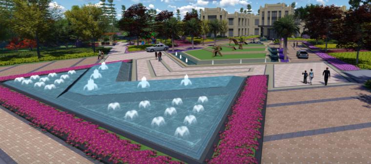 [苏州]金厦张家港梁丰生态园南侧地块展示中心概念方案设计B-9透视图