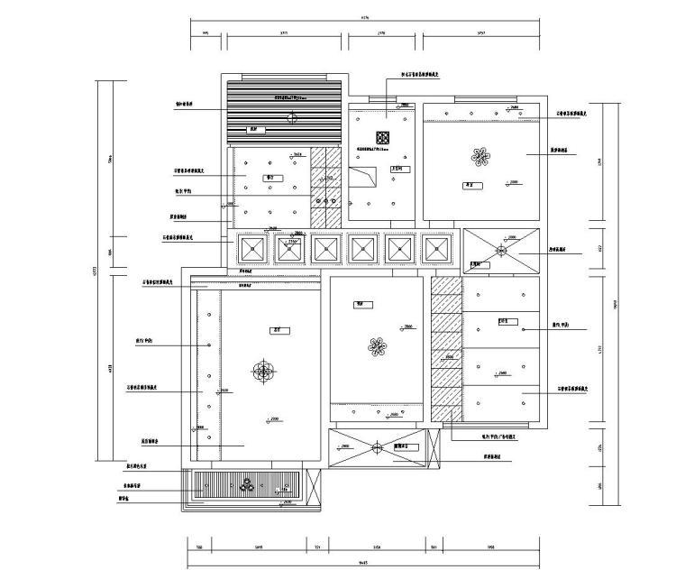 现代红色调施工图室内设计(附效果图)