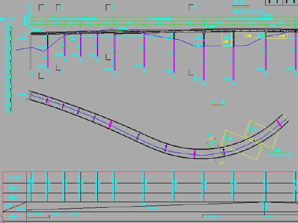 20座后张预应力现浇箱梁匝道互通桥梁设计推荐方案及比较方案图纸(CAD)