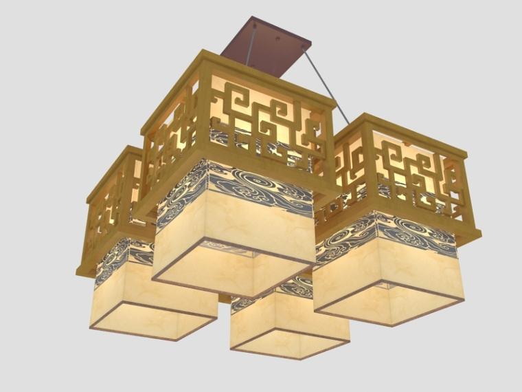 中式大吊灯3D模型下载