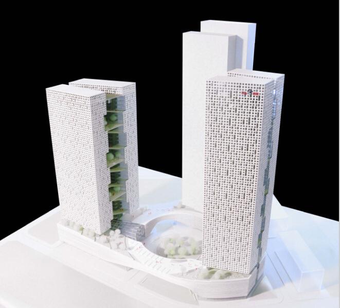 [北京]超高层立体快装知名企业办公大厦建筑设计方案文本