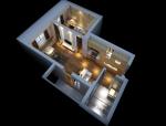 现代青年公寓3D模型下载