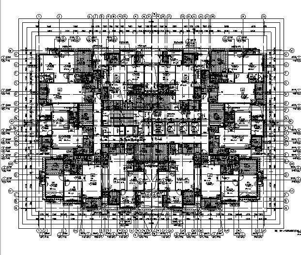 [重庆]秋千万科图纸竣工终板施工图(全高层建筑金色住宅专业图片