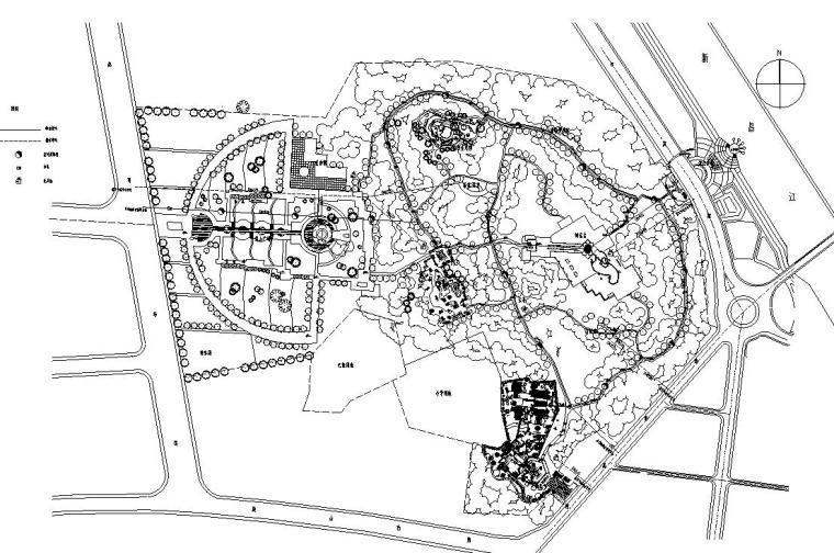 新昌鼓山公园施工图设计(包含CAD)