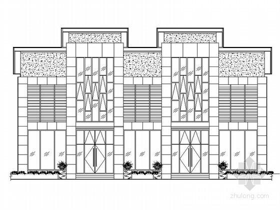 [江苏]某二层商铺外立面幕墙工程施工图