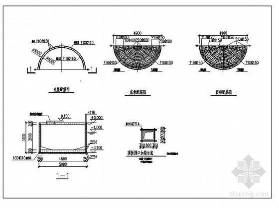 某圆形水池结构设计图