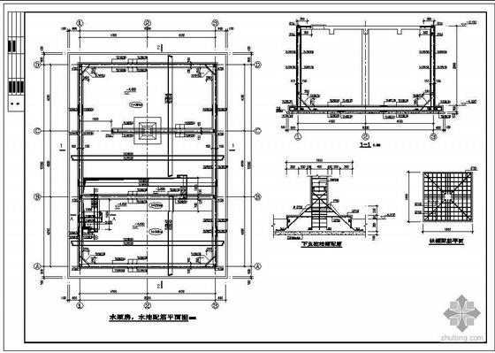 某地下消防水池结构图