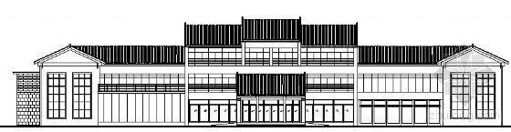 现代徽派宾馆建筑方案图