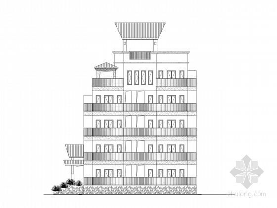 [海口]现代风格五层办公宿舍楼建筑施工图