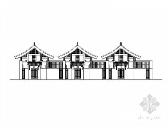 [成都]知名酒店中式花园度假别墅施工图