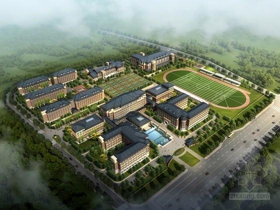 [浙江]新古典主义风格中学校区规划设计方案文本