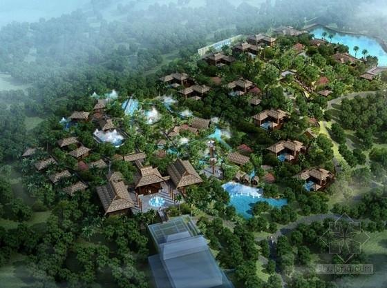 [海南]某雨林温泉度假酒店温泉区修建性详细规划