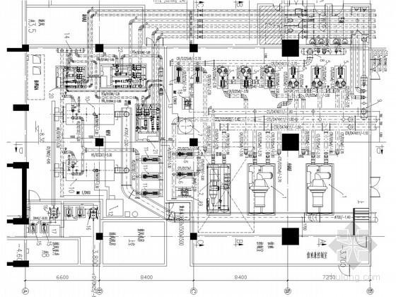 [北京]大型商业中心冷冻机房及锅炉房系统设计施工图