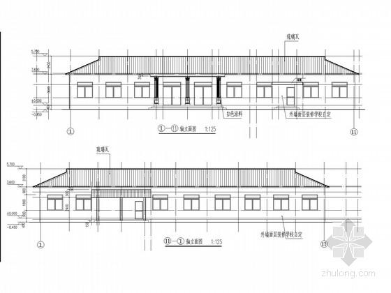 木屋架学校餐厅结构施工图(含建施)