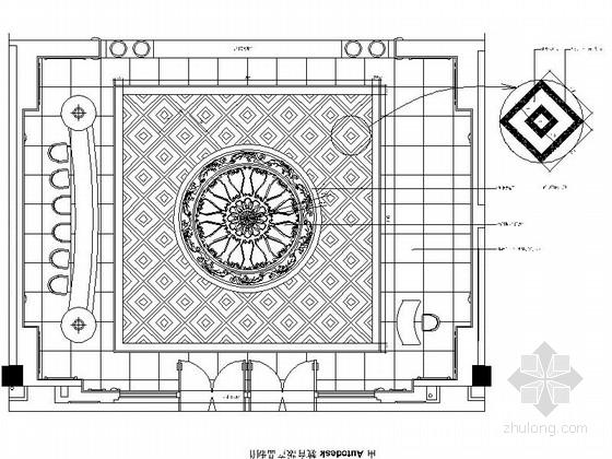 [常州]名城欧式典雅售楼处CAD装修图(含效果)