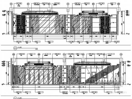 [苏州]环抱独墅湖水天一色苏式恬静会议酒店设计施工图(含方案及实景)会客厅立面图