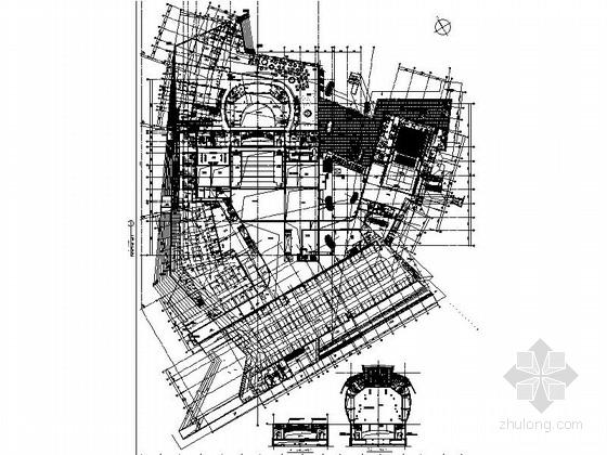 [无锡]名师设计形态独特高档现代大剧院设计施工图(含效果)
