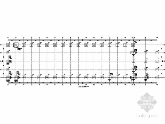 25米跨门式刚架结构重型实验室结构施工图(5t单梁吊车)