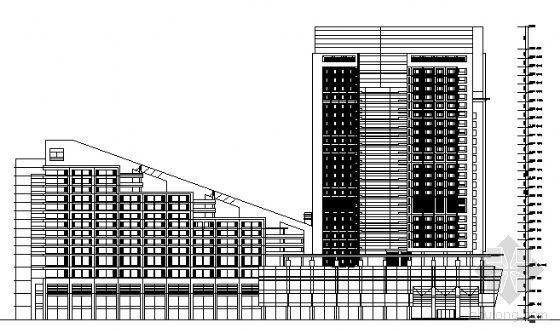 某高层商务办公区建筑设计方案图(最高30层)
