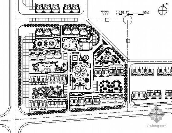 [吉林]某居住区组团景观设计平面图