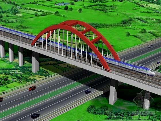1-140m跨钢箱系杆拱桥跨越高速公路保通方案
