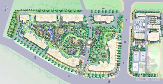 长沙某小区景观概念设计(手绘)