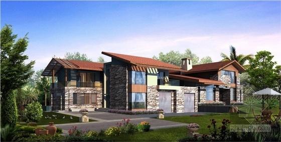 [立面改造]西班牙建筑风格别墅住宅小区立面改造方案文本-西班牙建筑风格别墅住宅小区效果图