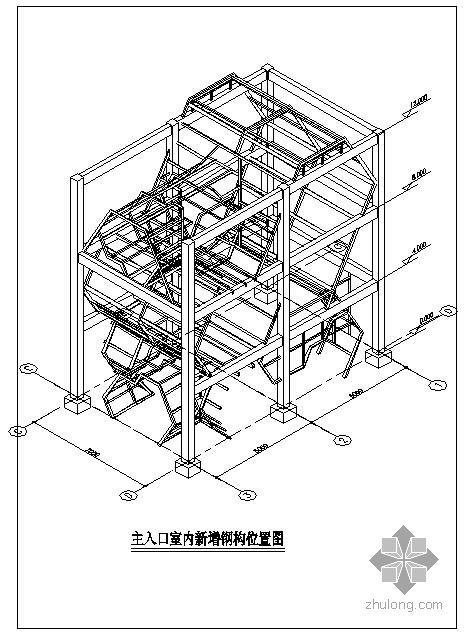 某大厦主入口新增钢结构设计图