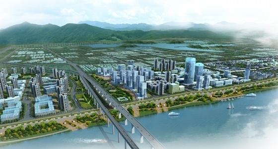 沿江生态宜居城市规划效果图