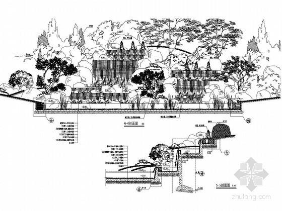 景观假山置石施工图