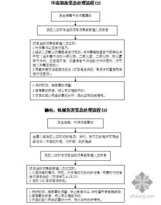 项目职业健康安全管理计划书(空白表格)