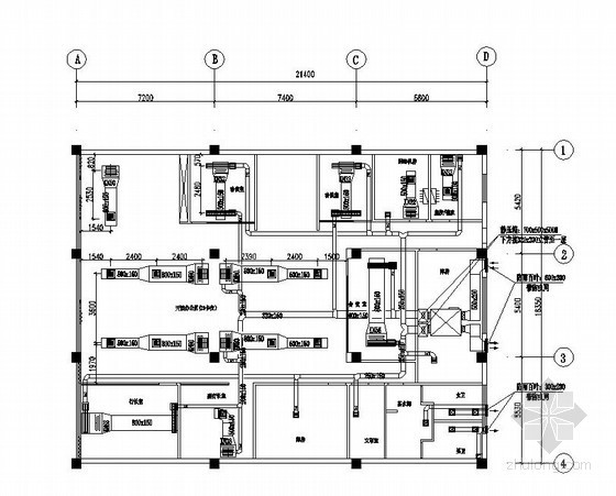 [重庆]某银行暖通设计施工图