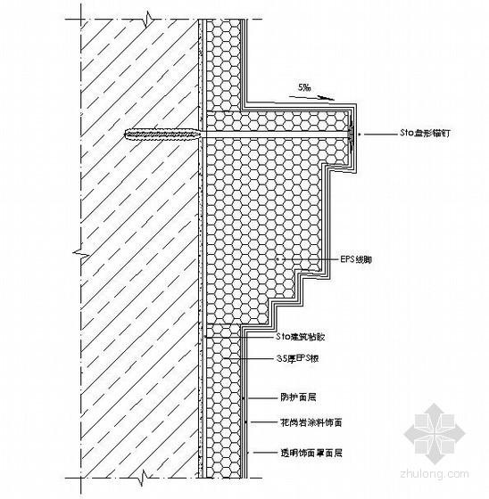 Sto传统型外墙外保温体系EPS装饰线脚示意图