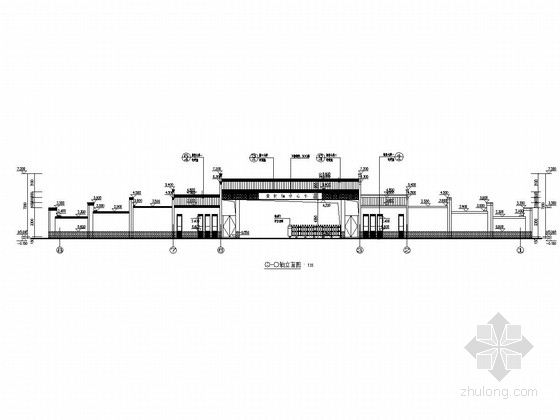 小学大门建筑结构全套图
