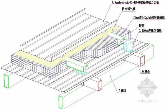 金属屋面直立锁边系统节点图
