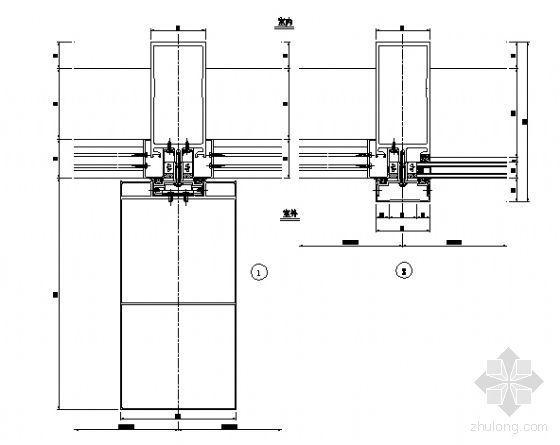 铝板幕墙横剖节点图室外5
