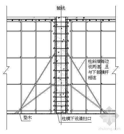 高支模柱模节点图