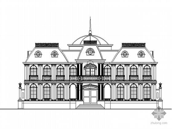 [北京]某二层欧式豪华别墅建筑施工图(1500平米)