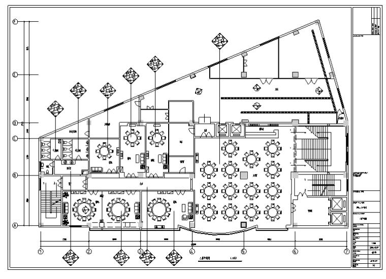 某580平米中餐厅室内装修施工图及效果图(32张)_4