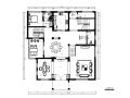 [重庆]中式风格别墅设计CAD施工图(含效果图)