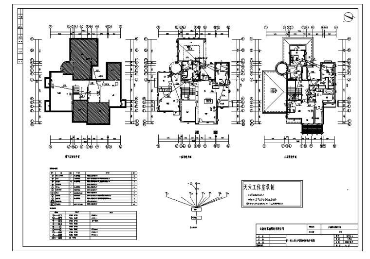 [陕西]上城国际花园别墅区弱电平面图纸